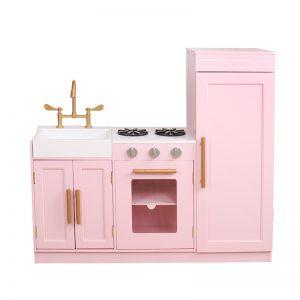 Virtuvė Delux rausva6