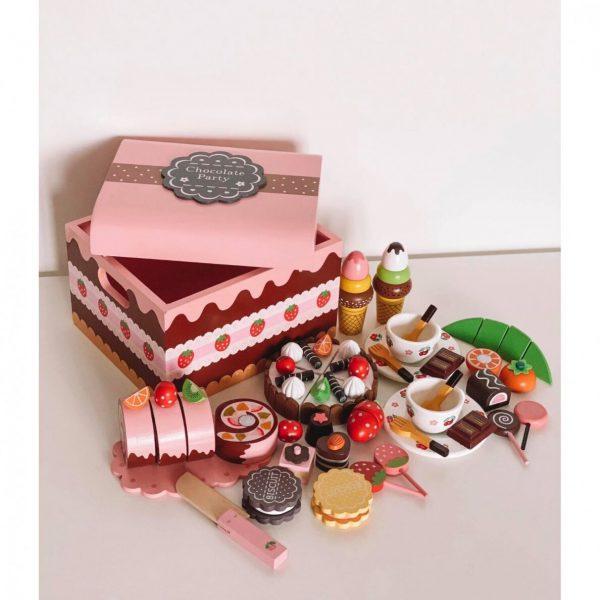 Medinė desertų dėžė4