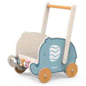 Medinis stumdukas vežimėlis Drambliukas9