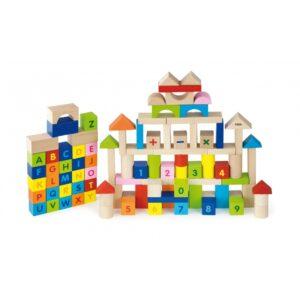 Деревянные развивающие кубики 100 элементов91