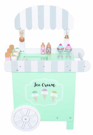 Medinė ledų parduotuvė