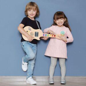 Деревянная электрическая светящаяся гитара90