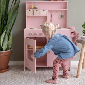 Medinė virtuvėlė Rausva28