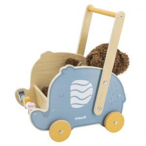 Medinis stumdukas vežimėlis Drambliukas10